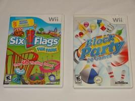 Six Flags Fun Park - Nintendo Wii UBI Soft + Block Party 20 Games Activision image 2