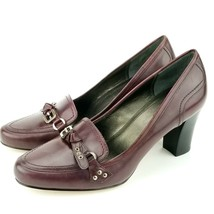 Franco Sarto Burgundy Women's Leather Pump Size 10 M Dickens - $23.07