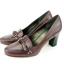 Franco Sarto Burgundy Women's Leather Pump Size 10 M Dickens - $23.07