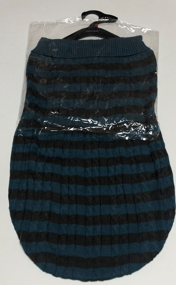 Zack & Zoey Dog Sweater Striped Fuschia Sz S or Blue XL Heritage Collection image 7