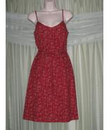 ANN TAYLOR LOFT Wine Red Floral Spaghetti Strap A-line Summer Dress Sz 4 S - $24.99