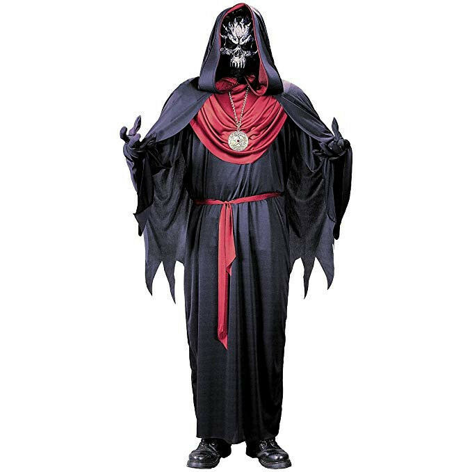 EMPEROR OF EVIL Grim Reaper Costume Black Robe Mask Accessories CHILD SM 4-6