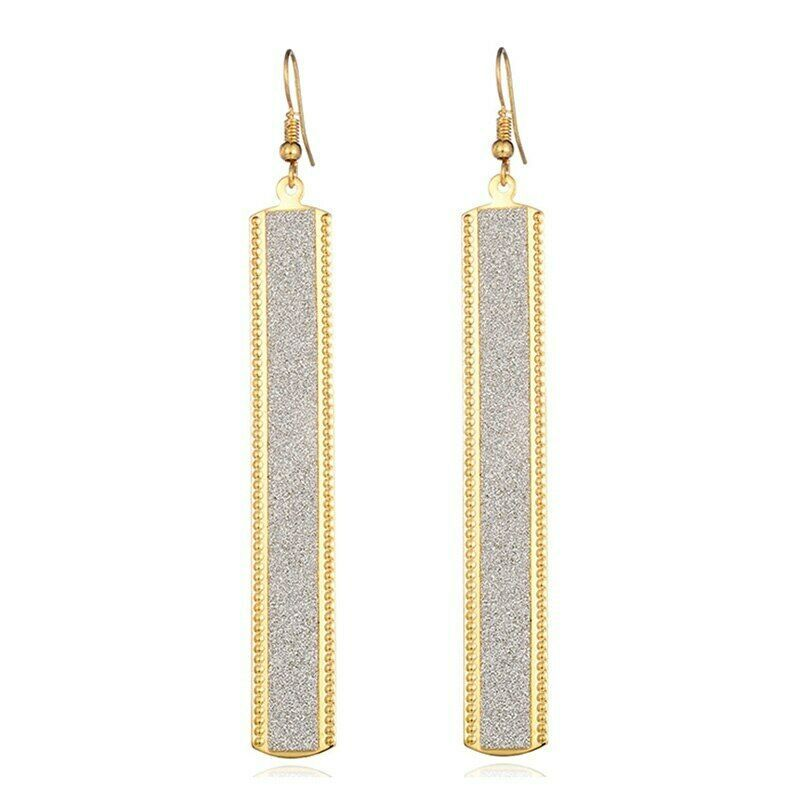 Primary image for Gold Dangle Earrings Women Fashion Rectangle Hoop Ear Drop Women Accessory Gift
