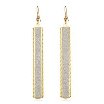 Gold Dangle Earrings Women Fashion Rectangle Hoop Ear Drop Women Accesso... - $10.65