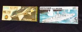 1969 BATTLESHIP ARIZONA  & 1969 MIG Jet FIGHTER W/Battle Damage - Se... - $19.55