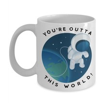 Your Out of This World Valentines Day Gift Astronaut Coffee Mug Ceramic White - $14.46+