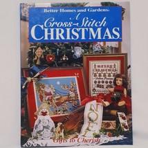 Christmas Cross Stitch Better Homes and Gardens Book 1996 Santa Stockings Noel  - $22.23