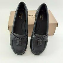 CLARKS Womens Ashland Bubble Slip-On Loafer- Black Sz 7M image 3