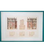 ARCHITECTURE Color Print - VICTORIAN Brick Mansion Paris Boulevard St. M... - $35.96