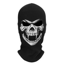 Thick Skeleton Skull Ghost Death Halloween Balaclava Face Mask for Cosplay - $18.99