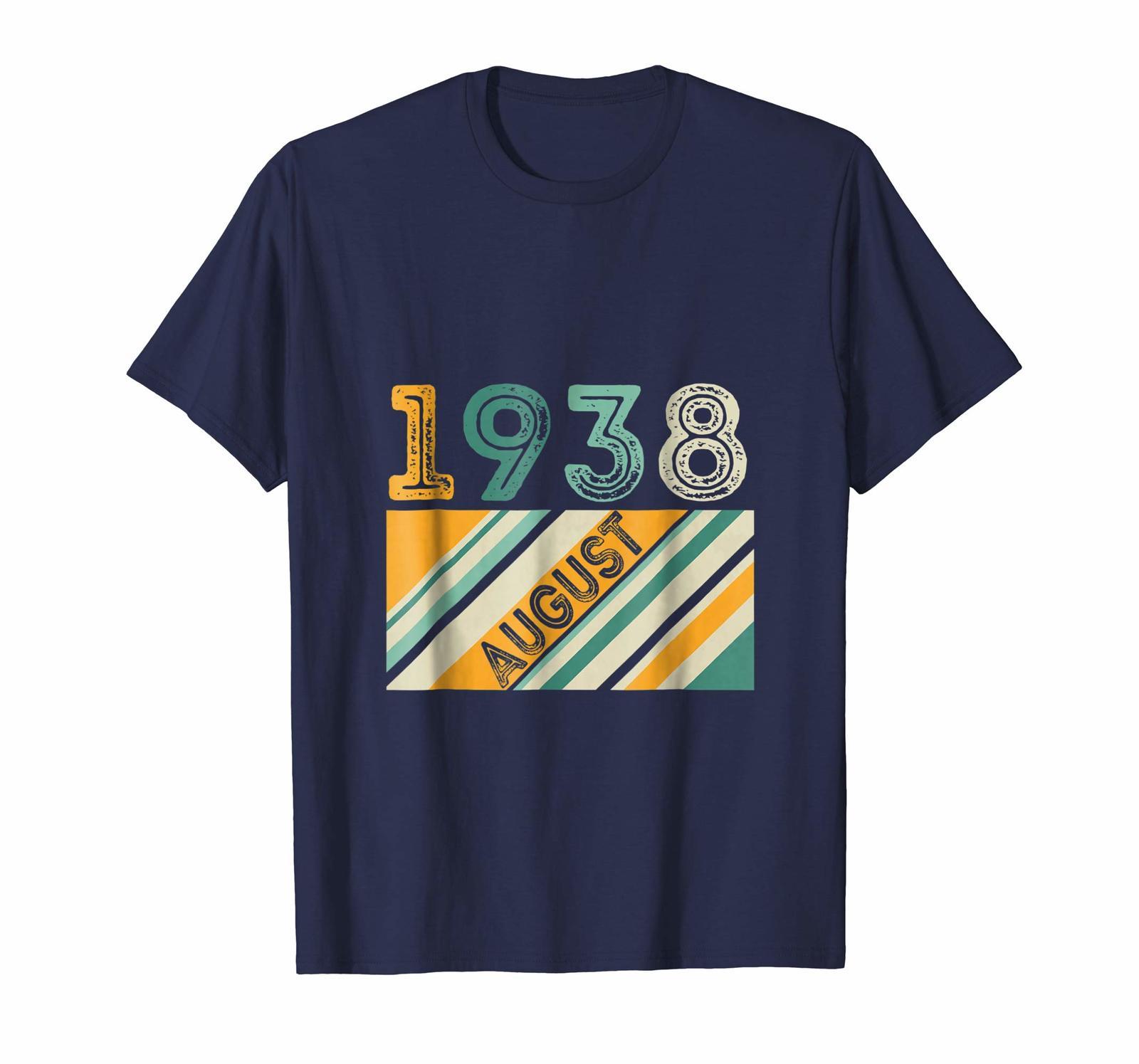 August 1938 Retro Vintage 80th Birthday