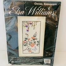 Elsa Williams CASCADE Crewel Embroidery Kit Michael A LeClair Butterfly Azaleas - $55.00