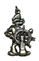 LOOK Popeye the sailor man Muscle Sterling silver .925 charm - $38.32