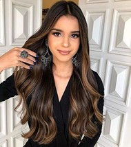 VeSunny Brown Clip in Hair Extensions Real Remy Human Hair Balayage Color Dark B
