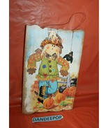 Seasons By Nicole Harvest Wooden Sign Scarecrow Pumpkin Holiday Decor - $19.79