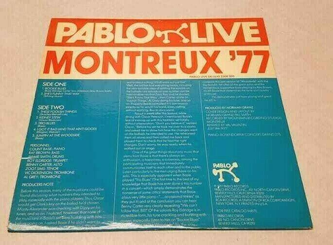 Count Basie Jam PABLO LIVE Montreux 77 RECORD ALBUM VG++ 2308 209 Vinyl LP Jazz