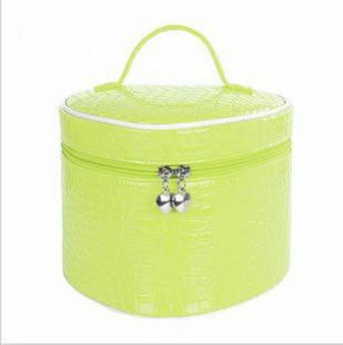 Cute Heart Makeup Bag Waterproof Makeup Case Large Capacity Makeup Box GREEN