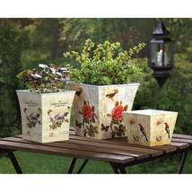 Multi-Use Plastic Floral Garden Planter Trio - $29.95