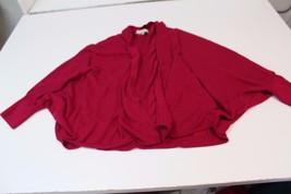 W12170 Womens Ann Taylor Loft Hot Pink fly-away Cardigan, acrylic/nylon, Medium - $28.97