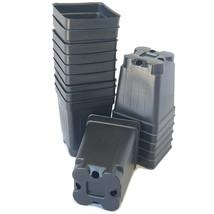 "2.5 inch SQUARE BLACK NURSERY POTS  - SET OF 250 - {2.6"" x 3.5""} plastic... - $39.59"