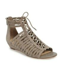New SAM EDELMAN Daleece Putty Suede Lace-up Sandals 10.5  - $57.86