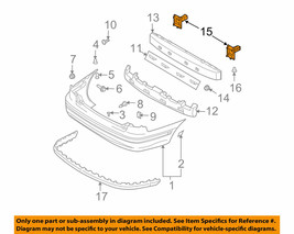Rear Bumper-Stay Support Bracket LH for 01-06 Hyundai Elantra 866412D000 OEM NOS - $51.73