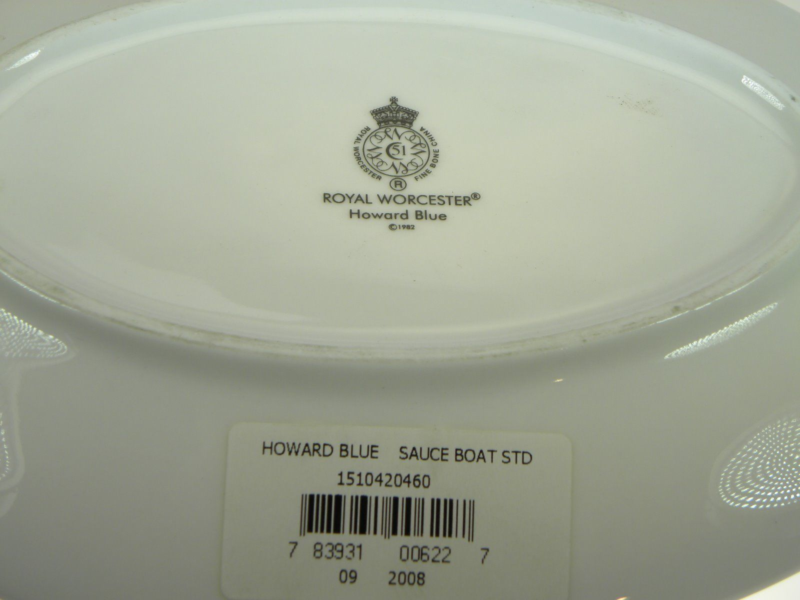 Royal Worcester Howard Gold Trim Sauce Boat Stand NEVER USED image 2