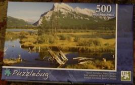 BRAND NEW FACTORY SEALED 500 Piece Puzzlebug Jigsaw Puzzle Banff Nat'l Park - $6.92