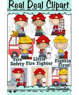 Little Guys Fire Safety Clip Art - $1.25