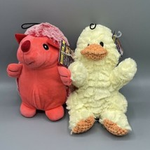 """Multipet Cuzzle Buddies 7"""" Red Hedgehog & 9"""" Duck Dog Toy For Gentle Che... - £9.34 GBP"""