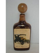 Vintage FORD T LIZZIE 1908 LIQUOR BOTTLE Decanter Leather Detail Made in... - $28.85