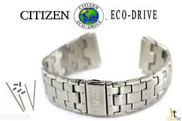 Citizen Eco-Drive AT0880-50E Stainless Steel Watch Band Strap AT0880-68E w/ Pins - $98.95