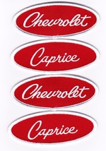 Chevrolet Caprice Red White Embroidered SEW/IRON On Patch 1973 1985 1991 1995 - $15.99