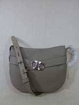 NWT Tory Burch French Gray Leather Gemini Link Cross Body/Shoulder Bag $595 - $490.05