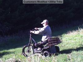 MotoTec Electric Trike 48v 1200w MT-TRK-1200 Scooter 3 Wheel Personal Transport image 9