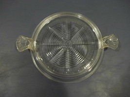 Very Good Vintage Fire-King Clear Glass Round Hot Plate With Tab Handles - $8.90