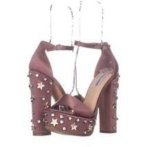 Steve Madden Glory Platform Studded Dress Sandals 894, Dusty Rose, 7.5 US - $39.35