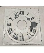 """Antique Vintage Painted Pressed Metal Clock Dial 8 5/16"""" Wide - $19.79"""