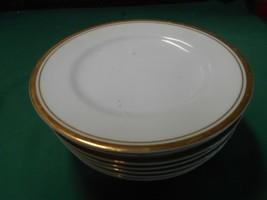 """Sheffield """"Regency Gold"""" Porcelain Fine China 8 BREAD-SALAD-DESSERT Plates 6.25"""" - $24.34"""