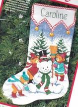 Dimensions Snow Beary Cute Snowman Bear Christmas Cross Stitch Stocking ... - $84.95