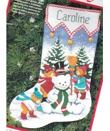 Dimensions Snow Beary Cute Snowman Bear Christmas Cross Stitch Stocking ... - $84.95