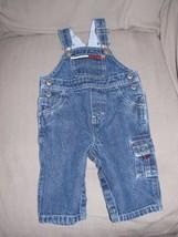 Vintage Tommy Hilfiger Baby J EAN Denim Overalls 3-6 Infant Flag Logo - $19.79