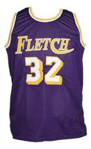 Fletch Movie Chevy Chase Basketball Jersey New Sewn Purple Any Size image 1