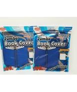 "2 ROYAL BLUE  10"" X 15"" BOOK COVERS JUMBO XXL PREMIUM EDITION SUPER STRETCH - $3.95"