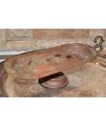 Antique Arts & Crafts Era Copper Compote RAISED Pedestal Dish HANDLE RUS... - $99.99