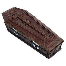 YTC Summit International Brown Vampire Coffin Casket with Cross Jewelry ... - $19.59