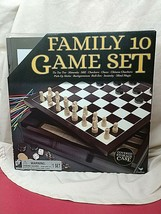 Cardinal Family 10 Games Set Wooden Box Storage Case Brand New - $23.76