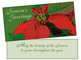 Beauty Of The Season ~ Christmas Holiday Gift Card or Money Holder - $5.00