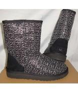 UGG Black Classic Short FRILL Fashion Boots Women Size US 6,EUR 37 NIB #... - $117.76