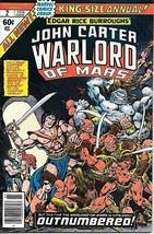 John Carter Warlord of Mars Comic Book Annual #2 Marvel Comics 1978 VERY FINE- - $5.24
